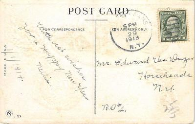 new002183 - New Years Day Postcards Old Vintage Antique Post Cards  back