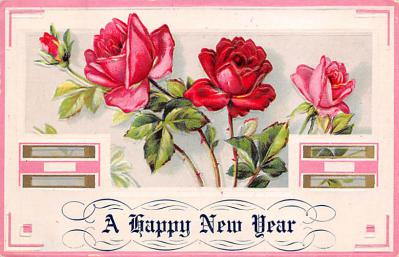 new002217 - New Years Day Postcards Old Vintage Antique Post Cards