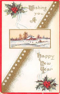 new002221 - New Years Day Postcards Old Vintage Antique Post Cards