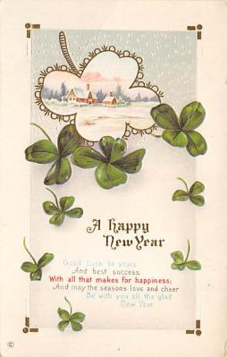 new002243 - New Years Day Postcards Old Vintage Antique Post Cards