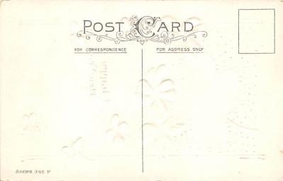 new002243 - New Years Day Postcards Old Vintage Antique Post Cards  back