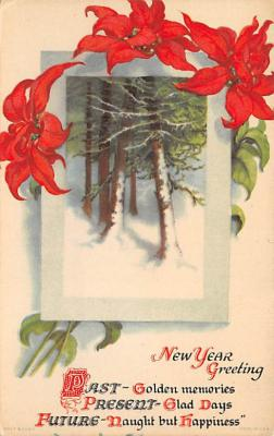 new002253 - New Years Day Postcards Old Vintage Antique Post Cards