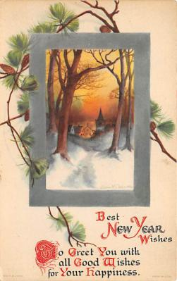 new002259 - New Years Day Postcards Old Vintage Antique Post Cards