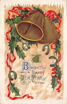 new002267 - New Years Day Postcards Old Vintage Antique Post Cards