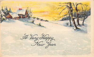 new002269 - New Years Day Postcards Old Vintage Antique Post Cards