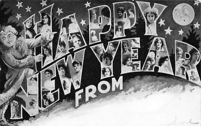 new002281 - New Years Day Postcards Old Vintage Antique Post Cards