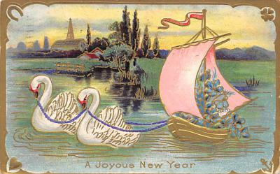 new002289 - New Years Day Postcards Old Vintage Antique Post Cards