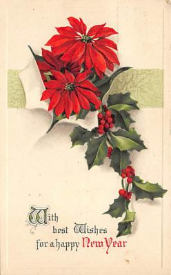 new002303 - New Years Day Postcards Old Vintage Antique Post Cards