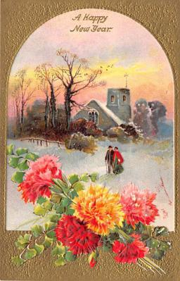 new002323 - New Years Day Postcards Old Vintage Antique Post Cards