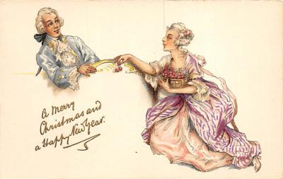 new002339 - New Years Day Postcards Old Vintage Antique Post Cards