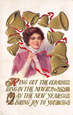 new002343 - New Years Day Postcards Old Vintage Antique Post Cards