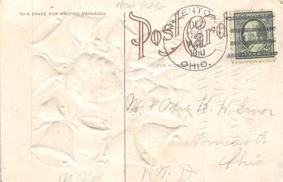 new002343 - New Years Day Postcards Old Vintage Antique Post Cards  back