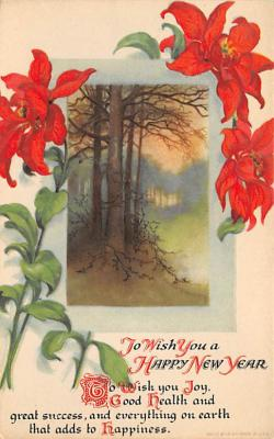 new002363 - New Years Day Postcards Old Vintage Antique Post Cards