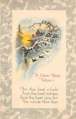 new002369 - New Years Day Postcards Old Vintage Antique Post Cards