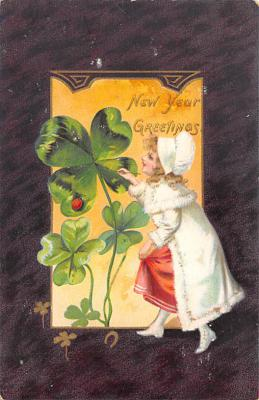 new002371 - New Years Day Postcards Old Vintage Antique Post Cards