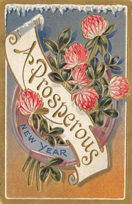 new002393 - New Years Day Postcards Old Vintage Antique Post Cards