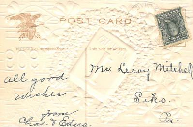 new002401 - New Years Day Postcards Old Vintage Antique Post Cards  back