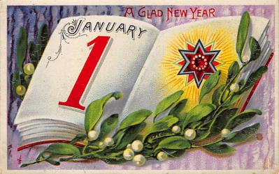 new002405 - New Years Day Postcards Old Vintage Antique Post Cards