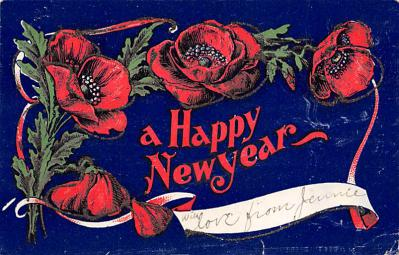 new002435 - New Years Day Postcards Old Vintage Antique Post Cards