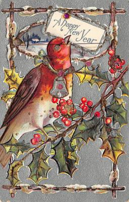new002441 - New Years Day Postcards Old Vintage Antique Post Cards