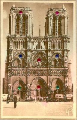 Paris Et Ese Merveilles, Facade De La Cathedrale Notre Dame (1163 - 1260)