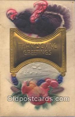nov001020 - Thanksgiving Greetings Novelty Postcard Post Cards Old Vintage Antique