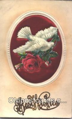 nov001057 - Best Wishes Novelty Postcard Post Cards Old Vintage Antique
