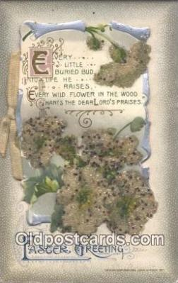 nov001086 - Easter Greetings Novelty Postcard Post Cards Old Vintage Antique