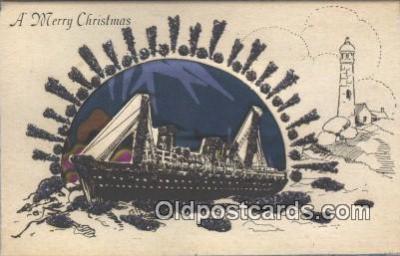nov001094 - A Merry Christmas Novelty Postcard Post Cards Old Vintage Antique