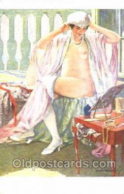 nud001057 - Artist Montassier Nude Nudes Postcard Postcards
