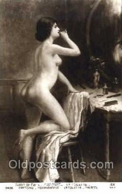nud001068 - Artist P. Du Thoit Nude Nudes Postcard Postcards
