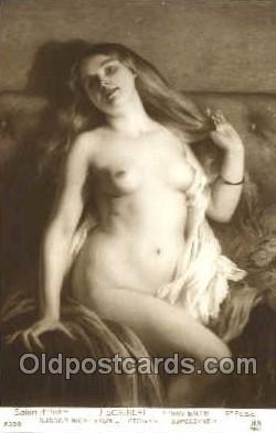 nud001069 - Artist J. Scalbert Nude Nudes Postcard Postcards