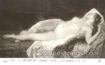 nud001073 - Artist J.B. Maillart Nude Nudes Postcard Postcards