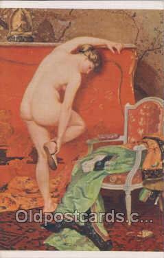 nud007001 - Artist H. Montassier Nude, Nudes Postcard Postcards