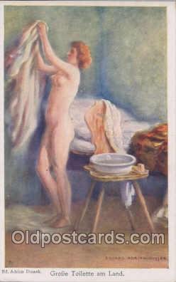nud007008 - Artist Eduard Adrian - Dussek Nude, Nudes Postcard Postcards