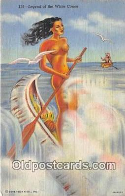 nud007101 - Legend of the White Canoe  Postcard Post Card