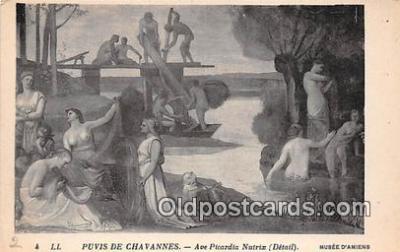 nud007143 - Puvis De Chavannes, Ave Picardia Nutrix Musee D'Amiens Postcard Post Card