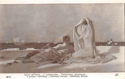 nud008142 - A Greek Terrace Nude Postcard