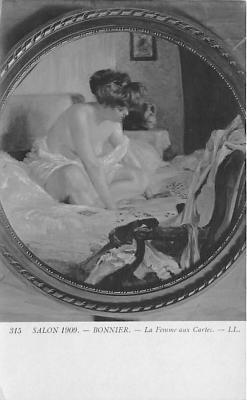 nud008167 - La Femme aux Cartes Nude Postcard