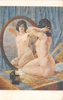 nud008398 - Coquetry Nude Postcard