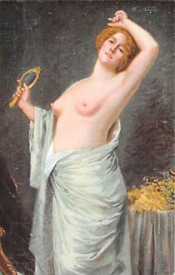 nud008450 - Das Erwachen Nude Postcard