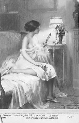 nud008491 - Le Miroir Nude Postcard