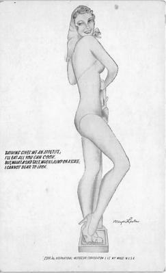 nud008502 - By Meyer Levine Nude Postcard