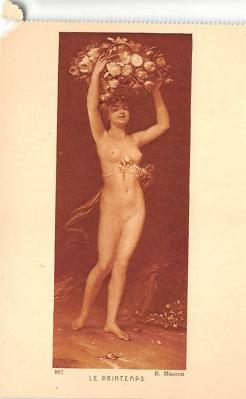 nud008561 - B Masson Nude Postcard