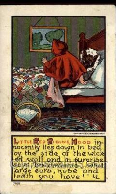 nur001012 - Little Red Ridding Hood postcard postcards