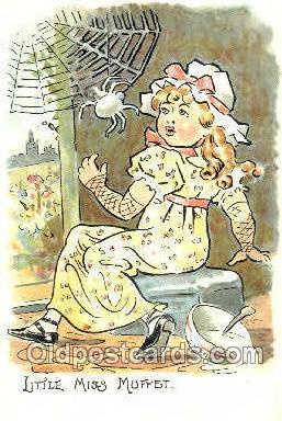 nur001097 - Little Miss MuffetLittle Miss Muffet, Nursery Rhyme, Postcard Postcards