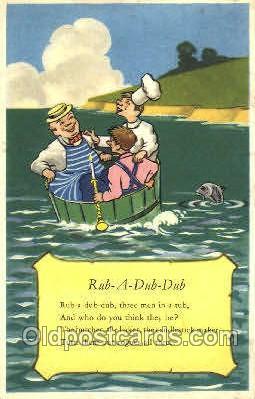 nur001102 - Rub-A-Dub-Dub, Nursery Rhyme, Postcard Postcards