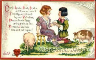 nur001106 - Curly Locks Nursery Rhyme, Postcard Postcards