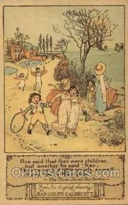 nur001156 - Artist Randolph Caldecott Nursery Rhyme Postcard Post Card Old Vintage Antique