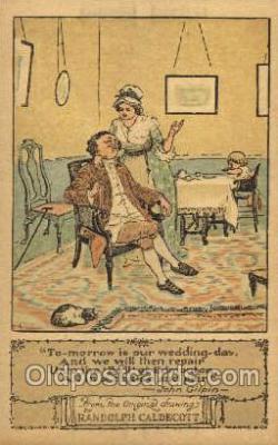 nur001161 - Artist Randolph Caldecott Nursery Rhyme Postcard Post Card Old Vintage Antique